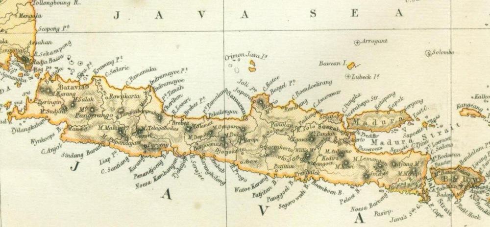 Hasil gambar untuk peta jawa kolonial